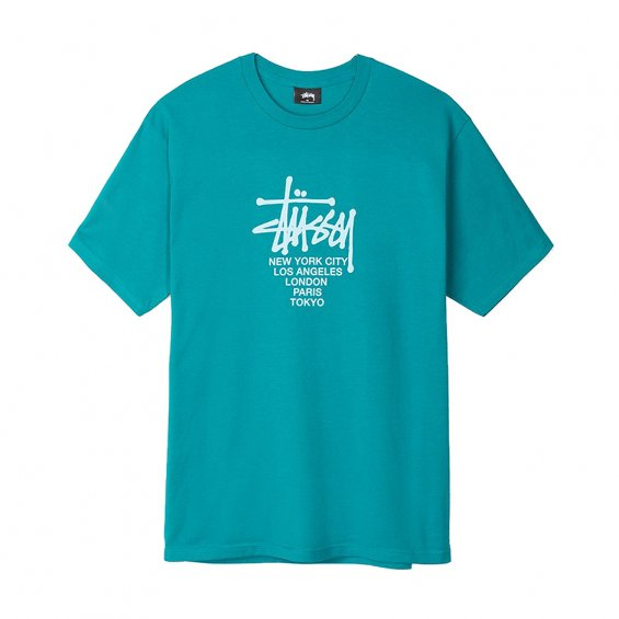 Stussy Big Cities Tee, Dark Teal