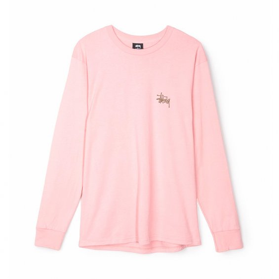 Stussy Basic LS Tee FW17, Dusty Rose