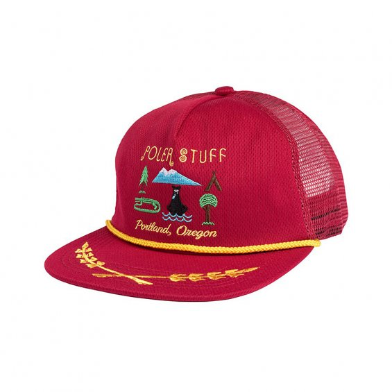 Poler Stuff Tourist Trap Cap, Reddish