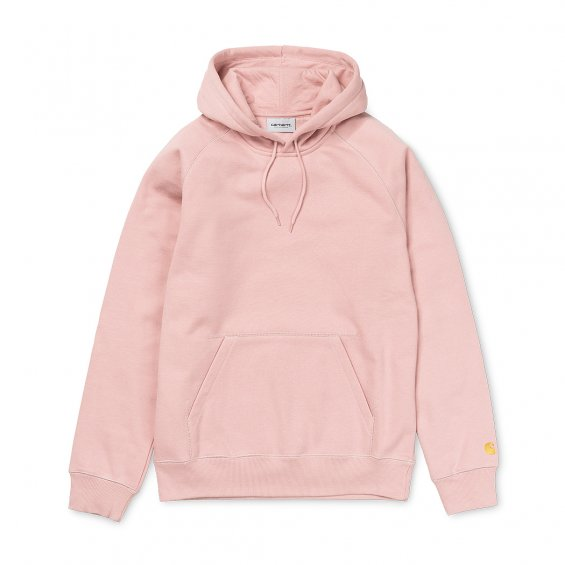 Carhartt Hooded Chase Sweat, Soft Rose Gold