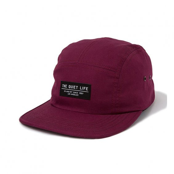 The Quiet Life Foundation 5-Panel, Burgundy