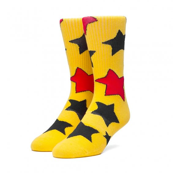 HUF x BODE Cheece Wizard Socks, Yellow