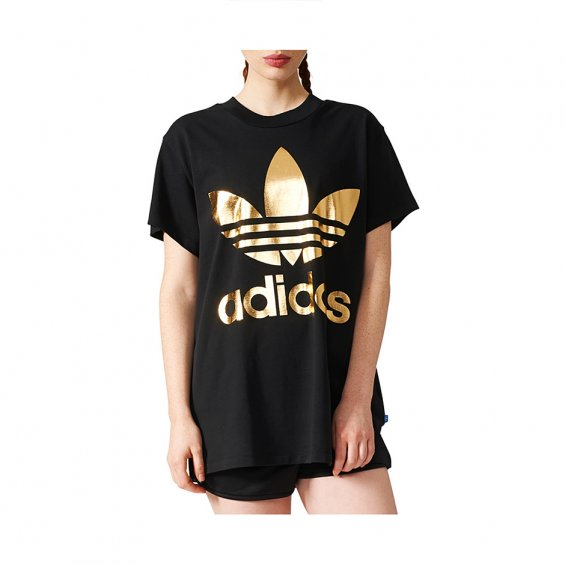 Adidas Originals W Big Trefoil Tee, Black