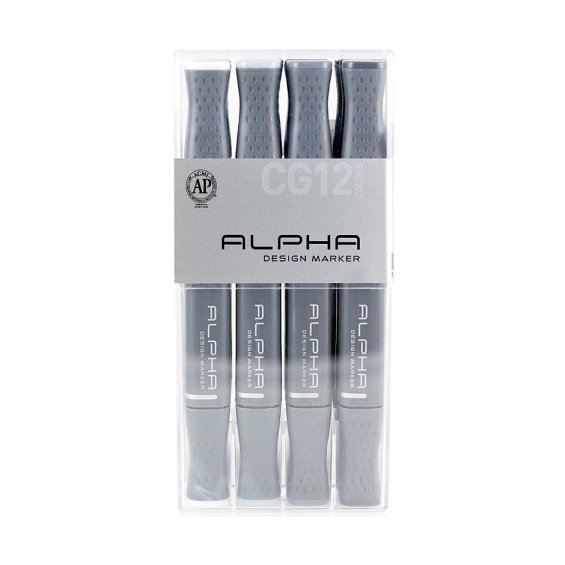 Alpha Design Marker 12set Cool Grey