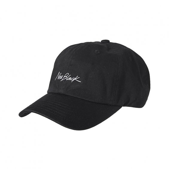 New Black Signature Baseball Cap, Black