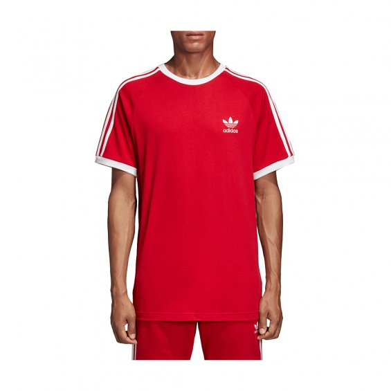 Adidas Originals 3-Stripes Tee, Power Red
