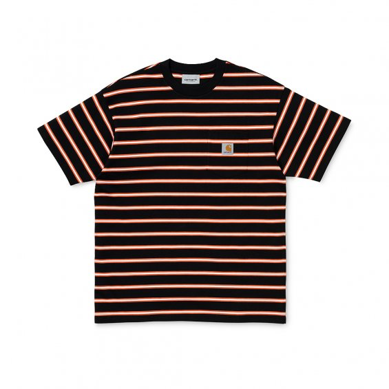 Carhartt SS Houston Pocket T-Shirt, Black Stripe