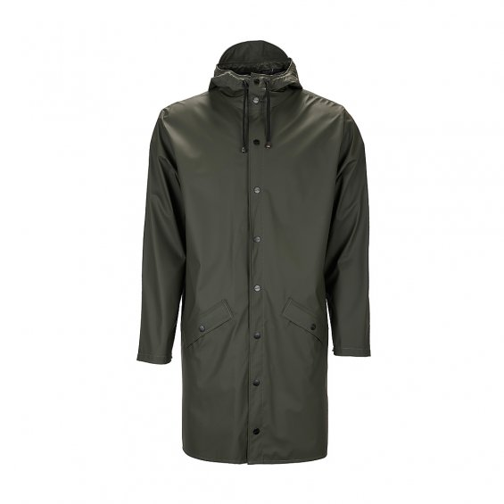 Rains Long Jacket, Green