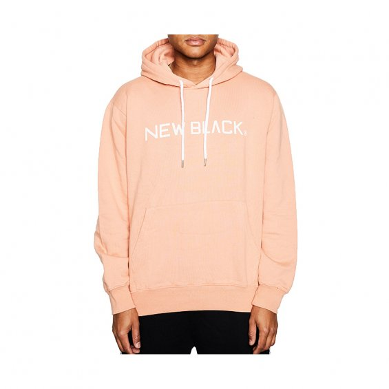 New Black Logo Hood, Coral