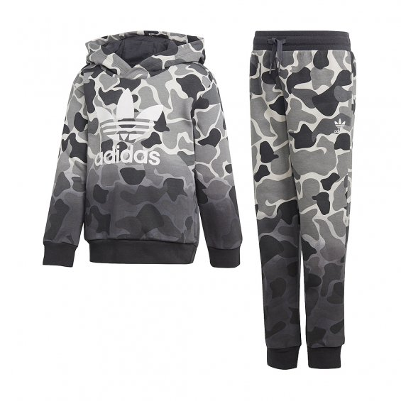 Adidas Originals Kids L Trefoil Set, Multi Camo