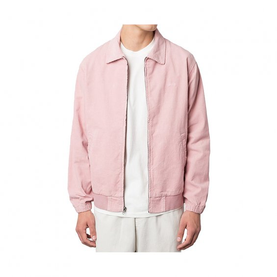 Stussy Bleached Out Cord Jacket, Pink