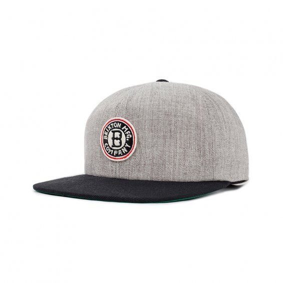 Brixton Louisville Cap, L Grey Black