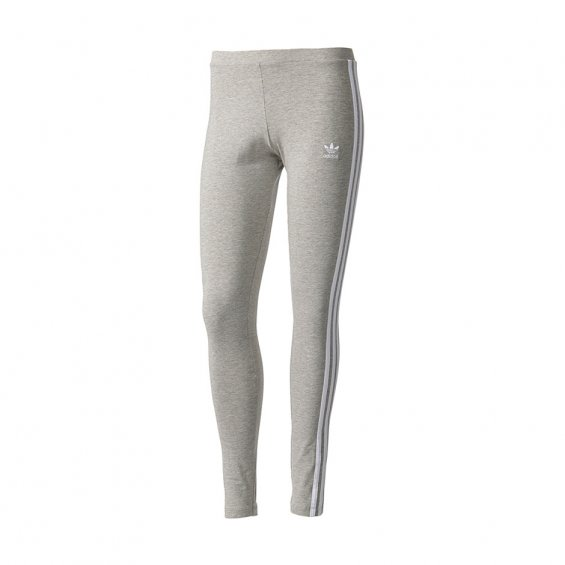 Adidas Originals W 3-Stripes Leggings, M Grey Heather