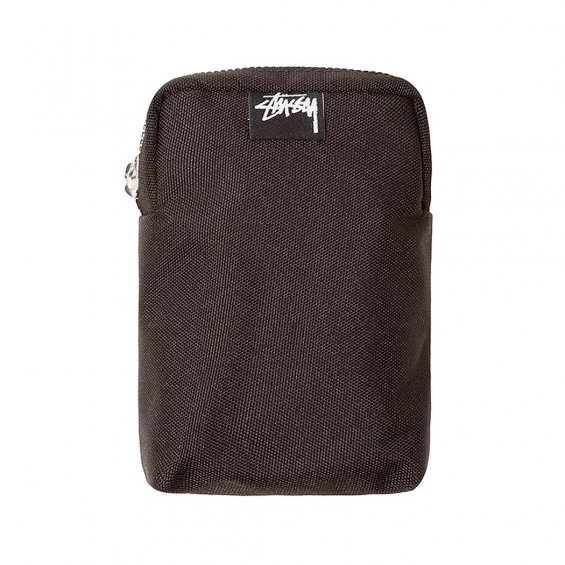 Stussy W Essential Mini Carabiner Pouch, Black