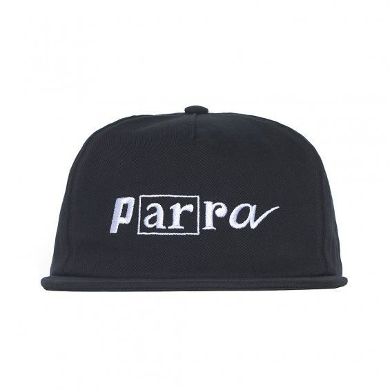 Parra Script Box Logo 5-Panel Cap, Black
