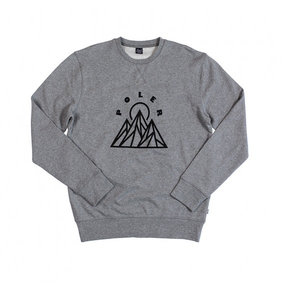 Poler Stuff Mountains Crew, Gray Heather
