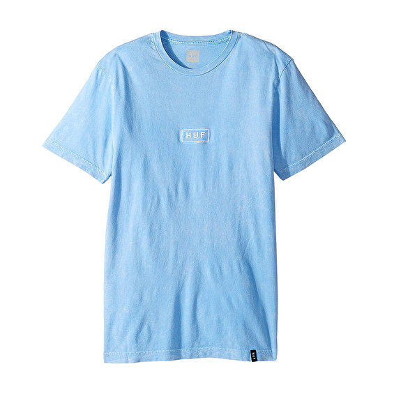 HUF Bar Logo Overdye Mineralwash, Blue