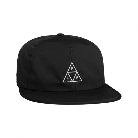 HUF Formless Triple Triangle 6-Panel, Black