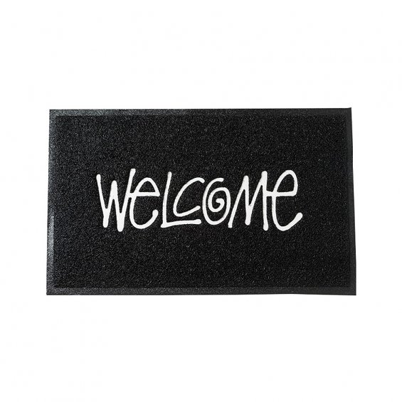 Stussy PVC Welcome Mat, Black