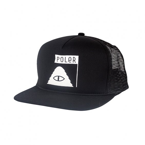 Poler Stuff Summit Stuff Mesh Trucker, Black