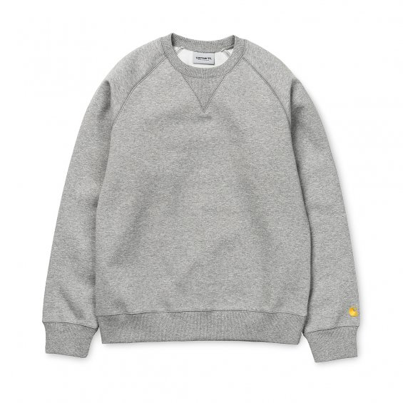 Carhartt Chase Sweat, Grey Heather Gold
