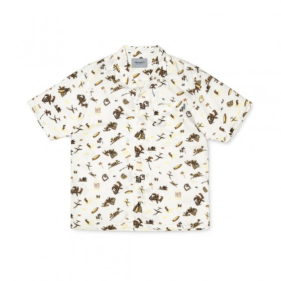 Carhartt SS Club Pacific Shirt, Wax Club Pacific Print
