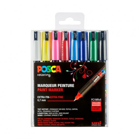 Posca PC-1MR 8-Set, Standard