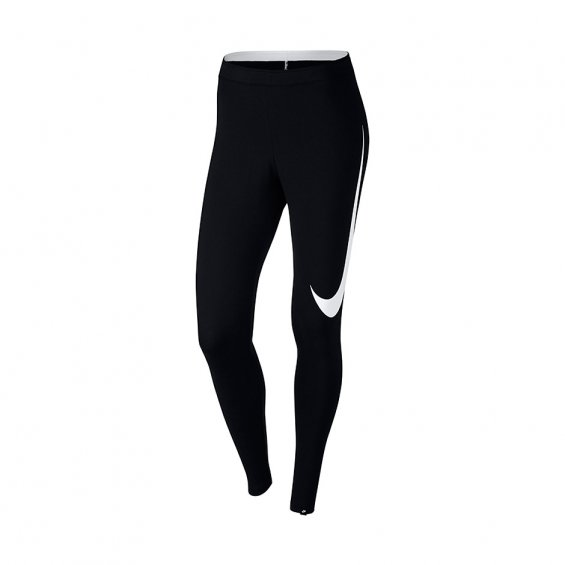 Nike Wmns Nsw Legging Club Swoosh, Black