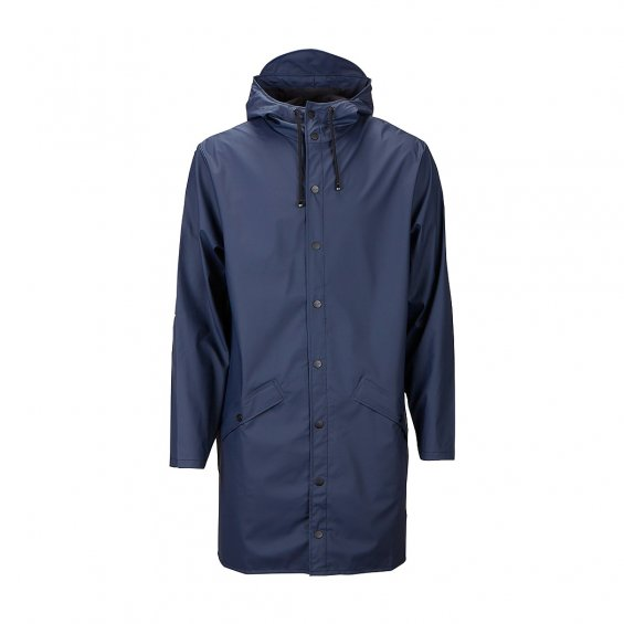 Rains Long Jacket, Blue