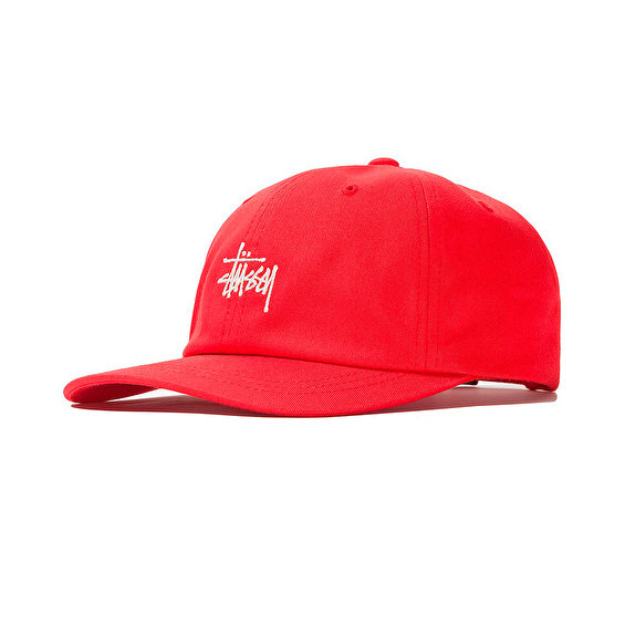 Stussy Stock Low Pro Cap SU19, Red
