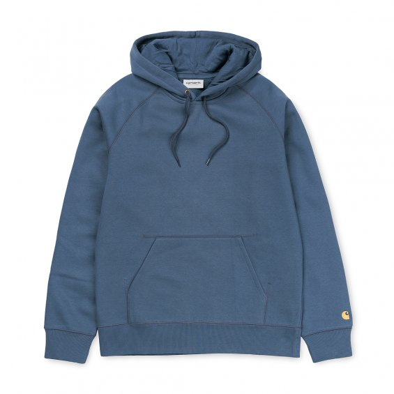 Carhartt Hooded Chase Sweat, Stone Blue Gold