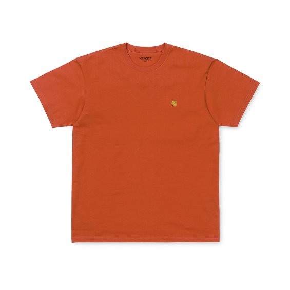 Carhartt SS Chase T-Shirt, Pepper Gold