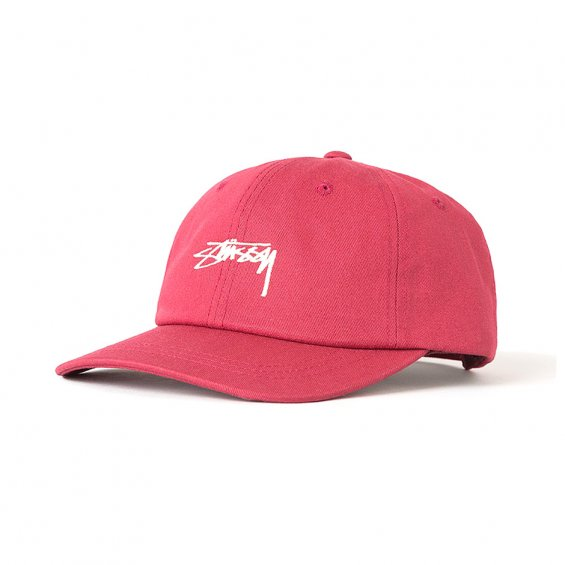 Stussy Smooth Stock Low Cap, Red