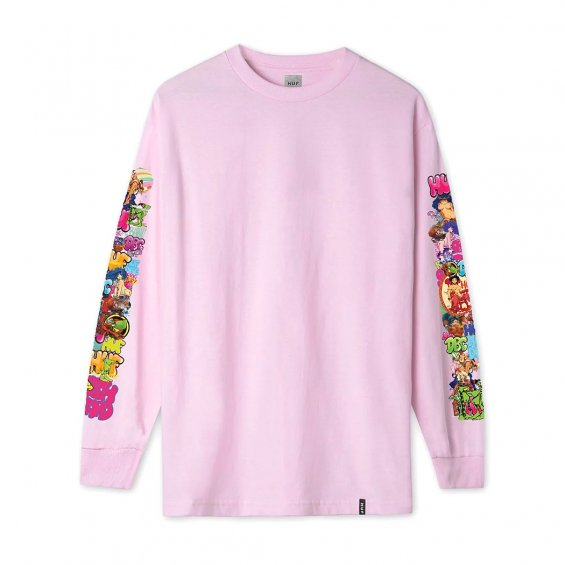 HUF x BODE Was Here L/S Tee, Pink