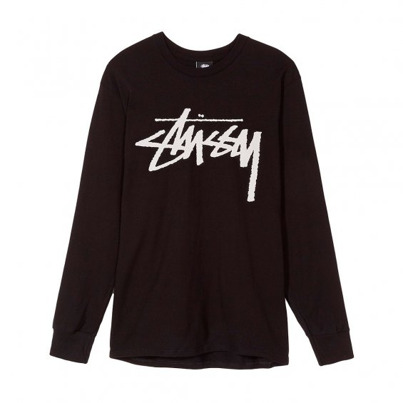 Stussy Old Stock LS Tee, Black