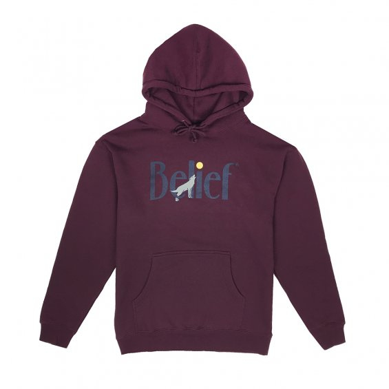 Belief Midnight Hoody, Maroon