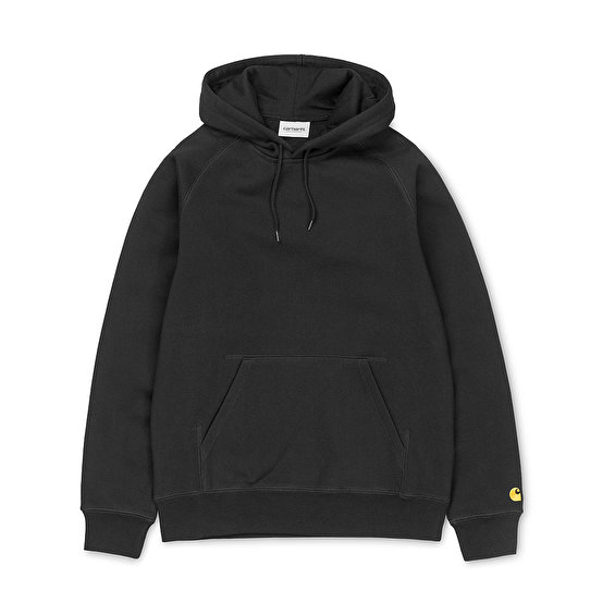 Carhartt Hooded Chase Sweat, Black/Gold