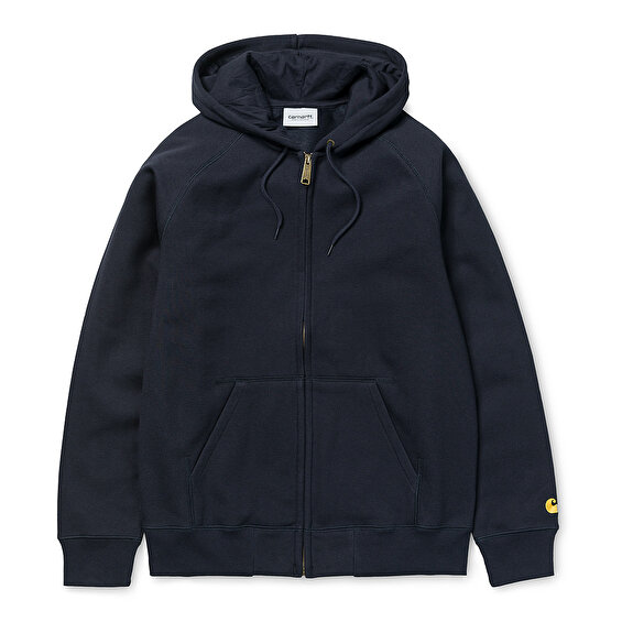Carhartt Hooded Chase Jacket, Dark NavyGold