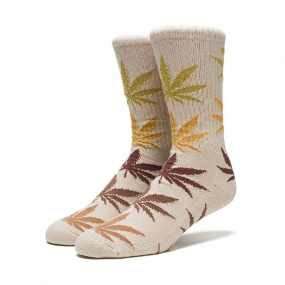 HUF Fader Plantlife Crew Sock, Natural