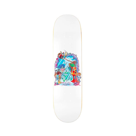 HUF x BODE World Skatedeck, White