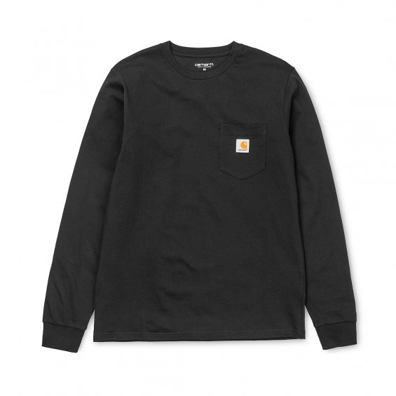 Carhartt LS Pocket T-shirt, Black