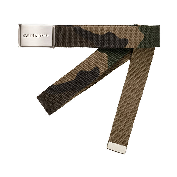 Carhartt Clip Belt Chrome, Camo Laurel