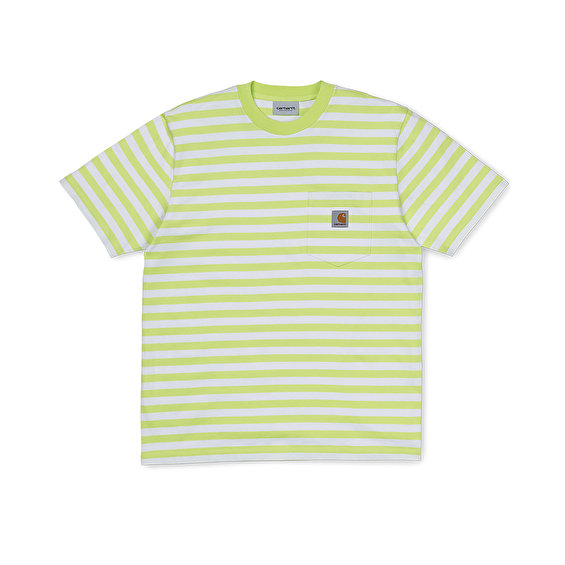 Carhartt S/S Scotty Pocket Tee, Lime/White