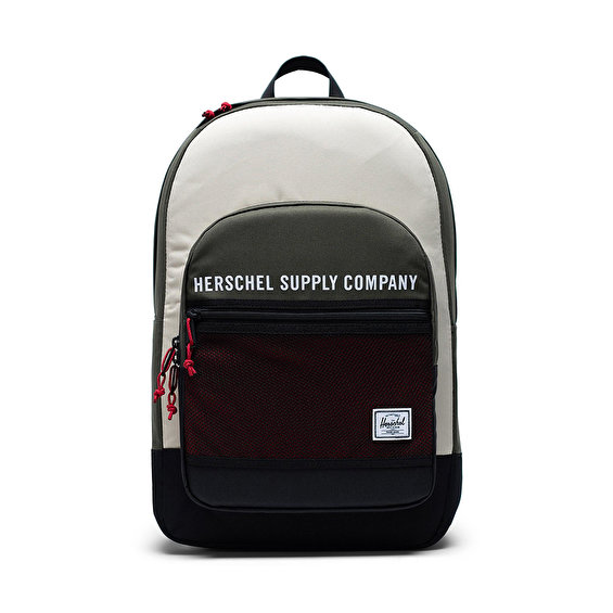 Herschel Supply Kaine, Dark Olive/Overcast/Blk/Red