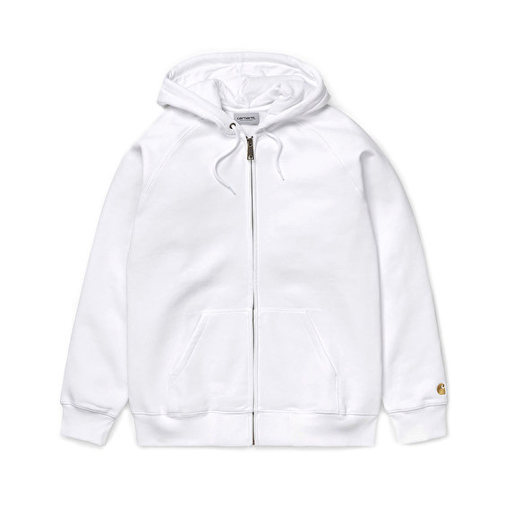 Carhartt Hooded Chase Jacket, White/Gold
