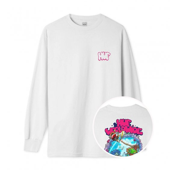 HUF x BODE World L/S Tee, White