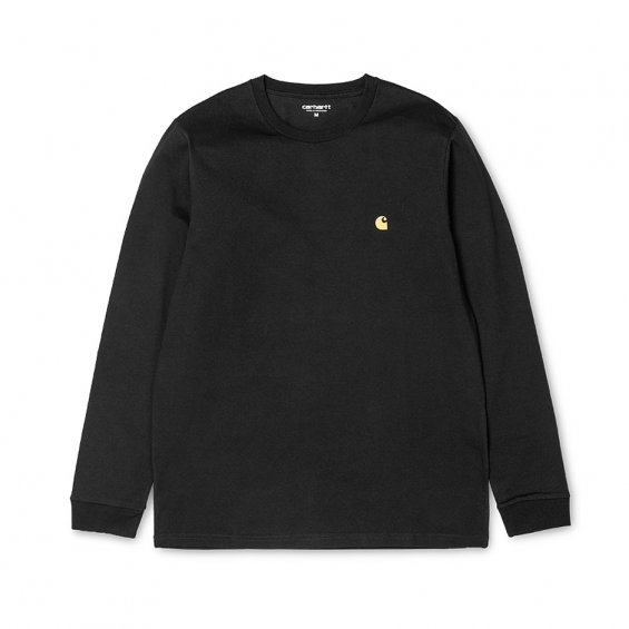 Carhartt LS Chase Tee, Black Gold