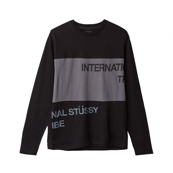 Stussy Split Panel Jersey, Black
