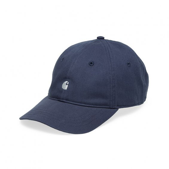 Carhartt Madison Logo Cap, Stone Blue White