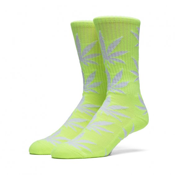 HUF Highlighter Plantlife Crew Sock, Neon Yellow